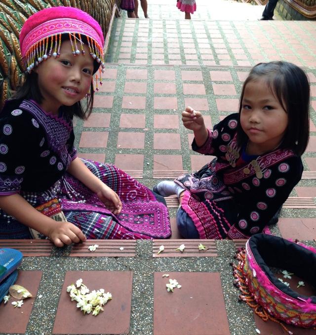 Niñas tailandesas