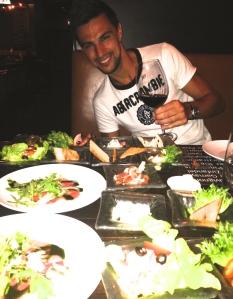 Cena despedida Tailandia con David Prieto